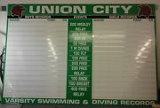 Swimming Record Board Easy To Use 3 High Individual Quick Change Letters
