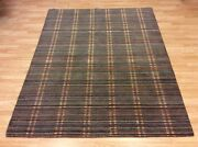 Striped Aztec Grey And Multi Colours Handwoven Wool Rug Xl Large 186x234cm 60off