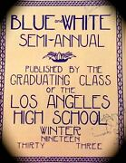 1933 Los Angeles High School Yearbook Blue And Whitefamous Names Children