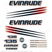 Evinrude 135hp Bombardier Outboard Decal Kit - 2002-2006 Engine Stickers