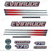 Evinrude 175hp Bombardier Outboard Decal Kit - Blue Cowl Engine 2002-2006