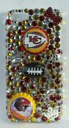 Kansas City Nfl Bling Case 4 Iphone 4s,5,5s,5c,6, Samsung Galaxy S3,s4 Ands5