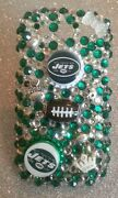 New York Jets Nfl Bling Case 4 Iphone 4s,5,5s,5c,6, Samsung Galaxy S3,s4ands5