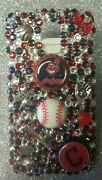 Cleveland Indians Mlb Bling Case 4 Iphone 4s,5,5s,5c,6,samsung Galaxy S3,s4ands5