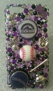Colorado Rockies Mlb Bling Case Iphone 4s,5,5s,5c,6,samsung Galaxy S3,s4ands5