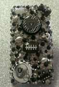 Oakland Raiders Nfl Bling Case 4 Iphone 4s,5,5s,5c,6,samsung Galaxy S3,s4ands5