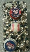 Washington National Mlb Bling Case 4 Iphone 4s,5,5s,5c,6,samsung Galaxy S3,s4ands5