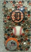 Detroit Tigers Mlb Bling Case 4 Iphone 4s,5,5s,5c,6,samsung Galaxy S3,s4ands5