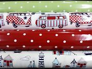 Pvc Coated Wipeclean Tablecloth Table Covering Oil Cloth Vinyl Camper Dotty