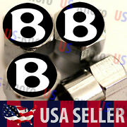 Bentley B Logo Valves Stems Caps Covers Chromed Wheel Roundel Tire Emblem Usa