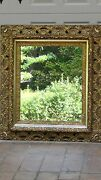 Antique19c French Gilt Gesso Over Wood W/pierced Outer Frame Accents Mirror