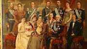 Antique 19c Victorian Original Lithograph Of Royal Family Of Oscar Ii Of Sweden