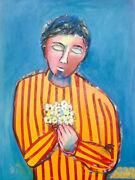 Auguste Blackman - And039 Hope And039-oil On Canvas -signed By The Artist -australian Art