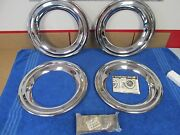 Vintage 1940s 50s Oldsmobile Garwood Wheel Cover Trim Rings With Clips Nos 315