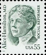 55 Cent Alice Hamilton Md Social Reform Stamps - 2940 Plate Block
