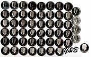 1964 - 2016 S Proof Kennedy Half Dollar Complete Set Include Silver Proof ,sms