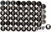 1964 - 2016 S Proof Kennedy Half Dollar Complete Set Include Silver Proof Sms