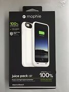 New White Mophie Juice Pack Air External Battery Case For Apple Iphone 6 And 6s