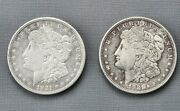 1921 Morgan One Dollar Silver Coin D 7tf Lot Of 2