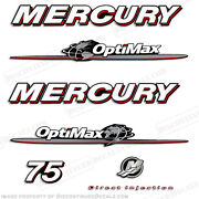 Mercury 2007-2012 75hp Optimax Decal Kit Outboard Engine Decals