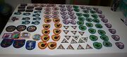 Huge Lot 100  New Mostly Girl Scout And Brownie Patches Rainbow Please World +