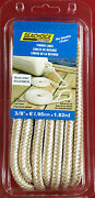 2pk Seachoice 40991 Fender Line Pair 3/8 X 6and039 White And Gold Double Braided Nylon