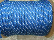1/2 X 120and039 Halyard Sail Lineanchor Rope Polyester Double Braid 8500 Usa Blue