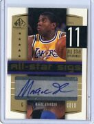 2004-05 Sp Game Used Card No.as-ma Magic Johnson Autograph 10/12, Lakers