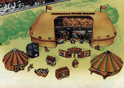 Reproduction American Flyer Cardboard Circus Tent And Accessory Set