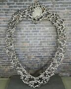 Antique Ferdinand Fuchs And Bros. 925 Sterling Silver Heart Shaped Picture Frame