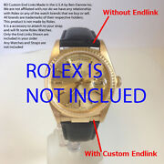 Custom Bd Watch Strap End Links Solid 18k Gold Day-date President Sub Gmt
