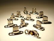 Twist Fastener Turn Button Two Screw Base Snaps - Boat Cover Enclosure - 12 Pcs