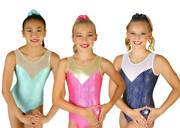 New Finesse Gymnastics Leotard By Snowflake Designs - 3 Colors To Choose From