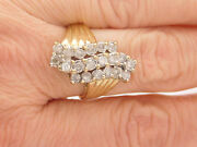 2.00 Carat Total Weight Round Cut Diamond Cluster Ring 14k Yellow Gold 27464