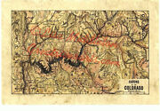 25 Arizona Canyons Of The Colorado Vintage Historic Antique Map Poster Print