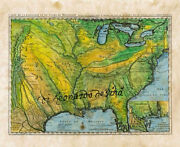 26 French United States 1731 Vintage Historic Antique Map Painting Poster Print