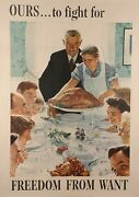 Original Vintage Poster For Freedom From Want By Norman Rockwell 1943