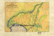 140 Fox River Wisconsin Vintage Historic Antique Map Painting Poster Print
