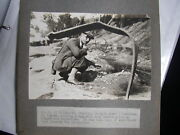 14 Original 1932 Photos Of At And Sf Locomotive 3834 Wash Out Recovery Railroad