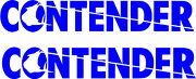 Contender Boat Decal Stickers Graphic Kit Vinyl Decal Boat Stickers 2pc 4x24