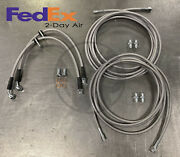 Stainless Rear Brake Line Replacement Kit For 96-00 Honda Civic W/rear Disc