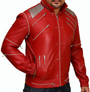 Mj Beat It Real Leather Jacket With Real Metal Mesh