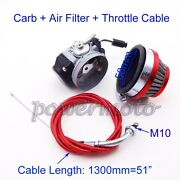 Racing Carb Carburetor Gas Throttle Cable For 80cc Push Bike Motorized Bicycle