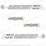 Mercury 1956 30hp Mark 30 Outboard Decal Kit - Electric - Reproduction Decals