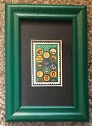 Matted Unused 1987 Girl Scout U.s. Postage Stamp Showing Scout Badges