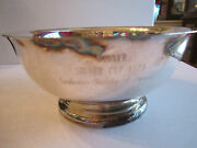 1979 Leukemia Society Of America - Silver Plated Winner's Bowl Cup - 8 X 3 1/2