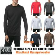 Lot 3 Pack Pro Club Menand039s Heavyweight Long Sleeve T Shirts Big And Tall S-7xl