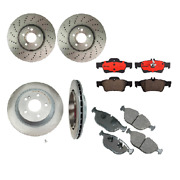 Front And Rear Disc Brake Rotors Pads Kit Fits Mercedes W220 S430 4matic 03-06