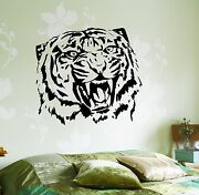 Copy Of Wall Vinyl Decal Roar Tigers Head Africa Cool Decor For Bedroom Z3658
