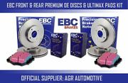 Ebc Front + Rear Discs And Pads For Honda Accord 2.2 4ws Cb7 1990-93